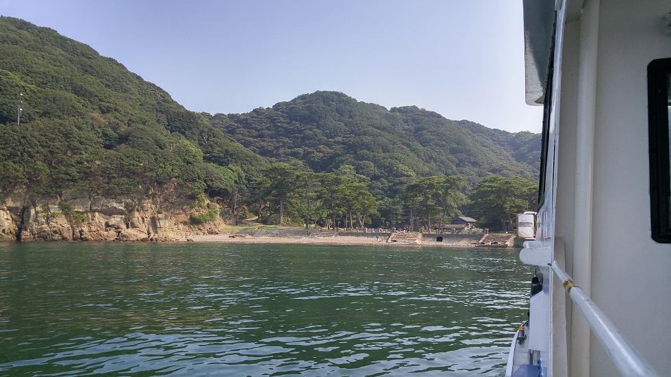 野奈浦桟橋へ到着