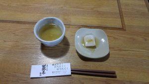 そば湯とそば豆腐