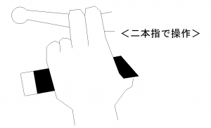 クラッチの握り方