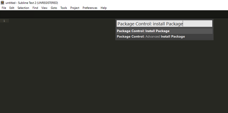 InstallPackageと入力