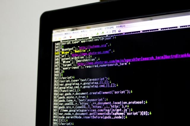 プログラミングの画面