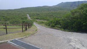 入口付近のハイキングルート