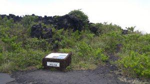 身長を超す固まった溶岩