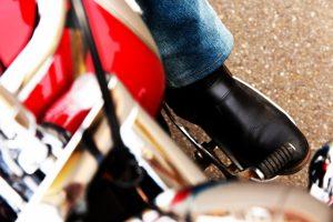 バイクのシフトレバー